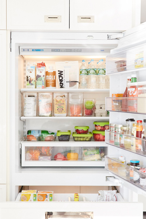 Organized Healthy Refrigerator