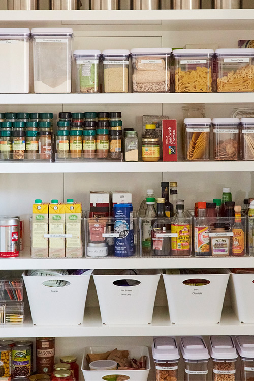 Organized Healthy Pantry