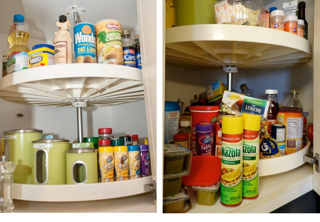 Organized Corner Cupboard
