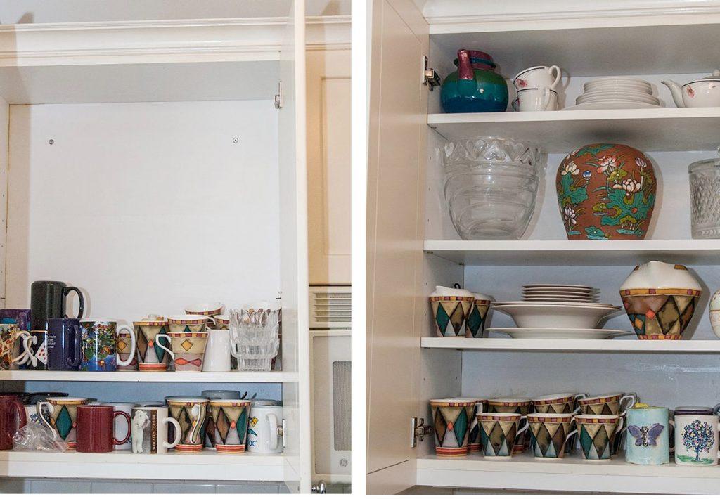 Cupboard, organized